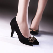 Load image into Gallery viewer, Metal Women Pumps Stiletto Heel Dress Shoes High Heels  7214