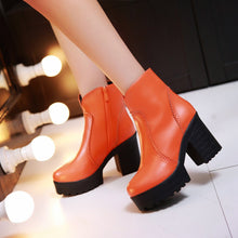 Load image into Gallery viewer, Ankle Boots Chunky Heel Pumps High Heels Women Shoes Fall|Winter