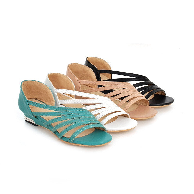 Summer Flats Sandals Plus Size Shoes Woman