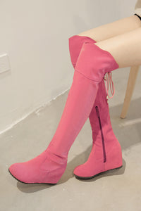 Zipper Knee High Boots Wedges Women Shoes Fall|Winter 7496
