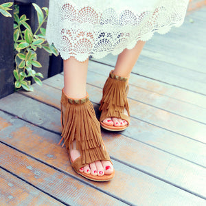 Tassel Gladiator Sandals Shoes Woman
