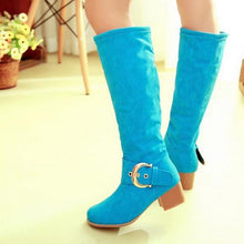 Load image into Gallery viewer, Women Knee High Boots Candy Colors High Heels Shoes Woman  3363