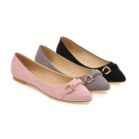 Pointed Toe Women Flat Shoes Black, Gray, Pink New 2016