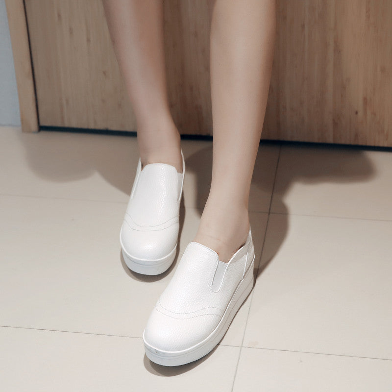 Wedges Platform High Heels Women Shoes White Black Sliver 9809