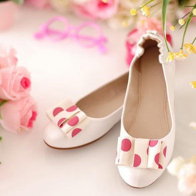Polka Dot Bow Slip on Flat Loafers Shoes 4369