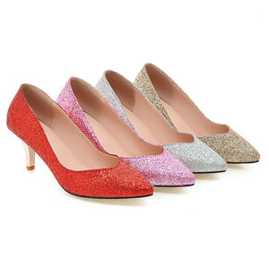 Women's Pumps Pointed Toe Party Spike Stiletto High Heels Dress Shoes