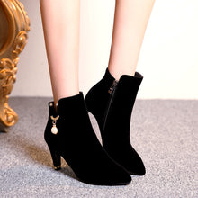 Load image into Gallery viewer, Pearl Ankle Boots High Heels Women Shoes Fall|Winter 3512