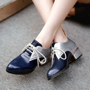 Pointed Toe Women Pumps Mixed Color High Heels Lace Up Shoes Woman