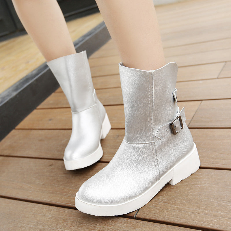 Buckle Ankle Boots Women Shoes Fall|Winter 3550