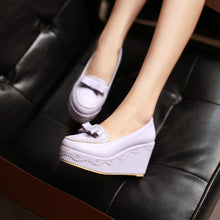 Load image into Gallery viewer, Bow Women Wedges Pumps High Heels Platform Shoes 6777