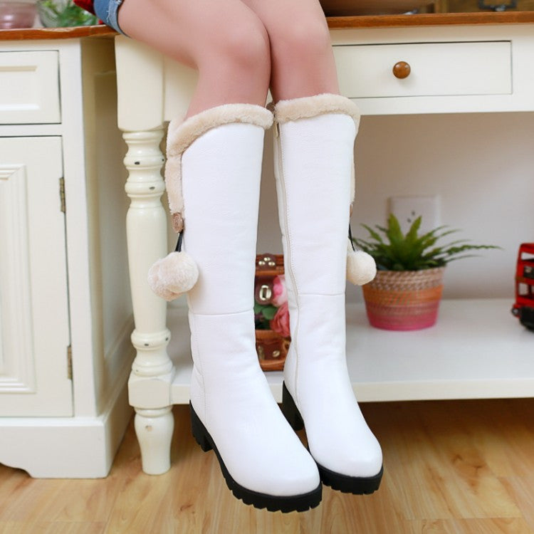 Women Snow Boots Ball Winter Knee High Boots Shoes Woman 2016 3520