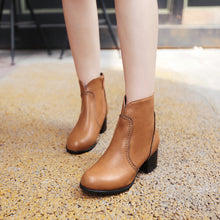 Load image into Gallery viewer, Round Toe Ankle Boots High Heels Women Shoes Fall|Winter 1570