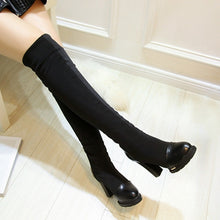 Load image into Gallery viewer, Black Women Over the Knee Boots Platform Elastic High Heels Winter Shoes Woman 2016 3386