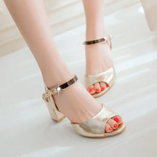 Load image into Gallery viewer, Women Sandals Pumps Ankle Strpas High-heeled Shoes
