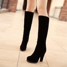 Load image into Gallery viewer, Black Platform Knee High Boots High Heels Shoes Woman 3293 3293