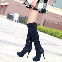 Load image into Gallery viewer, Thigh High Boots Platform High Heels Stiletto Heel Shoes Woman 3328