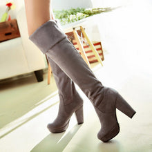 Load image into Gallery viewer, Women Over the Knee Boots Platform Artificial Suede Elastic High Heels Shoes Woman 2016 3390