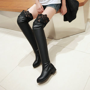 Lace Over the Knee Boots Shoes Fall|Winter 8171