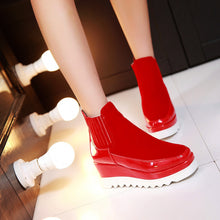 Load image into Gallery viewer, Round Toe Platform Wedges Ankle Boots Women Shoes New Arrival