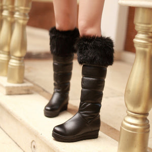 Fashion Women Knee High Boots for Autumn and Winter New Arrive Fur Snow Boots 9486