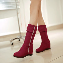 Load image into Gallery viewer, Fashion Women Knee High Boots for Autumn and Winter New Arrive Rhinestone Wedges 3259
