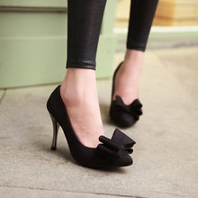 Load image into Gallery viewer, Bow Women Pumps High Heels Stiletto Heel Dress Shoes 8082