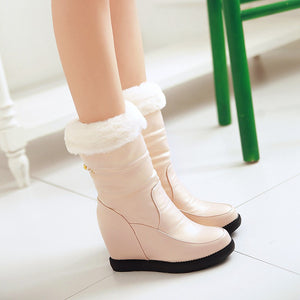 Fur Snow Boots Wedges Women Shoes Fall|Winter 2463