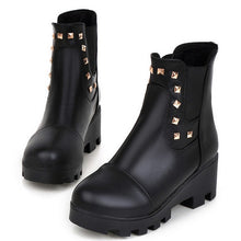 Load image into Gallery viewer, Studded Ankle Boots Platform High Heels Shoes Woman 3272 3272