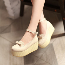 Load image into Gallery viewer, Bow Women Wedges High Heels Shoes 7852
