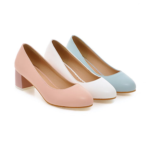 Womens High Heel Shoes Round Toe Lady Pumps Party Dress Shoes