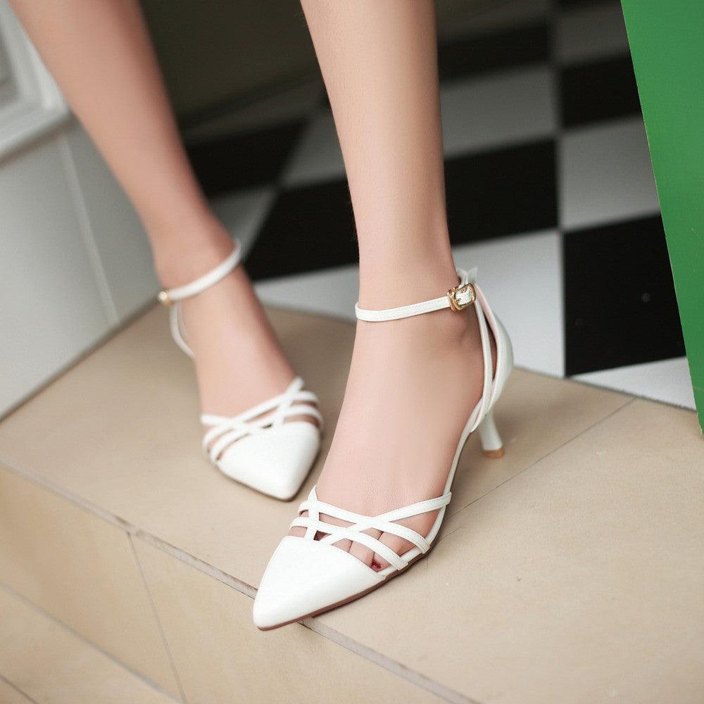 Summer Women Ankle Straps Sandals Sexy Pumps High Heels Shoes 2016 2800