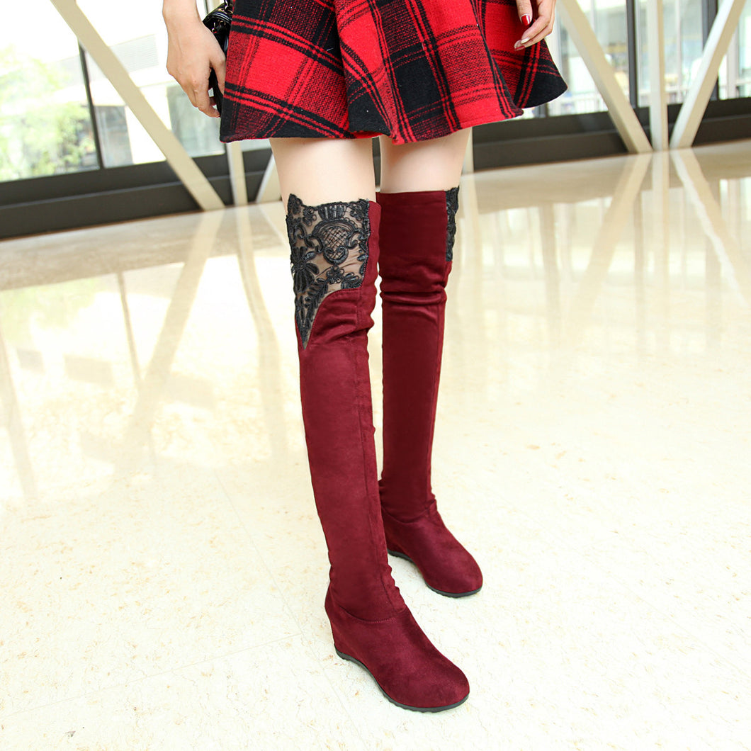 Lace Over the Knee Boots Women Shoes Fall|Winter 6544