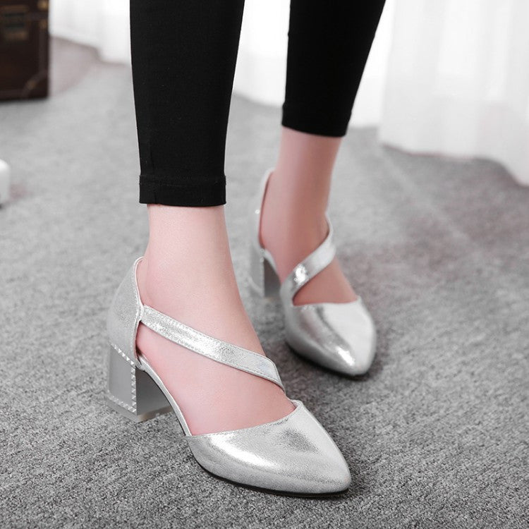 Pointed Toe Sandals Ankle Wrap Women Pumps High Heels Shoes Woman