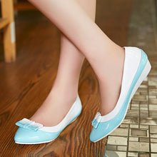 Load image into Gallery viewer, Knot Women Flats Pointed Toe Mix Colors Ballet Shoes