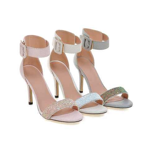 Sandals Sequined Women Pumps High-heeled Shoes Woman