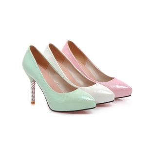 Sexy Pointed Toe Pumps Platform High Heels Fashion Women Shoes 8984