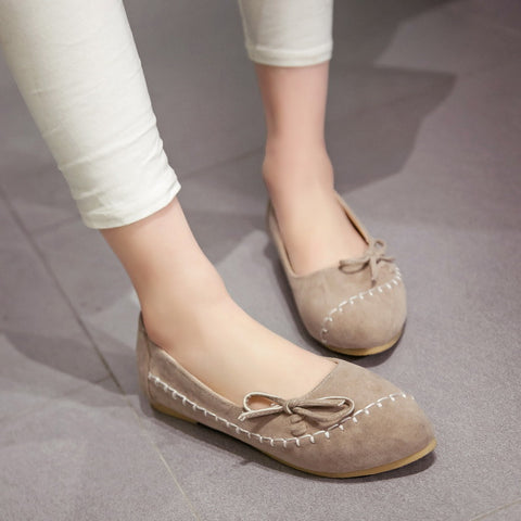 Bow Women Flats Casual Shoes Blue,Pink,Beige,Yellow