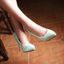 Load image into Gallery viewer, Sexy Pointed Toe Pumps Platform High Heels Fashion Women Shoes 8984