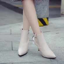 Load image into Gallery viewer, Pointed Toe High Heels Ankle Boots Stiletto Heel 8949