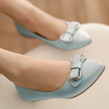 Load image into Gallery viewer, Bowtie Women Flats Pointed Toe Shoes