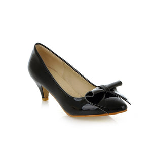 Bow Women Pumps Dress Shoes High Heels  6632