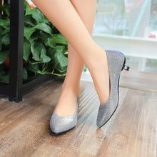 Load image into Gallery viewer, Pointed Toe Women Pumps Spike Shoes Low Heels 5684