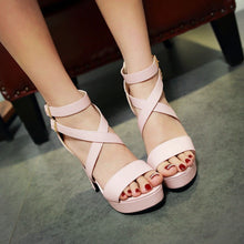Load image into Gallery viewer, Cross Strap Buckle Gladiator Sandals High Heels 5178