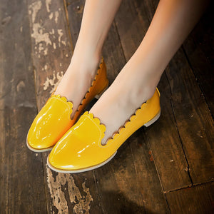 Women Flats Round Toe Loafers Candy Colors Ballet Shoes  7041