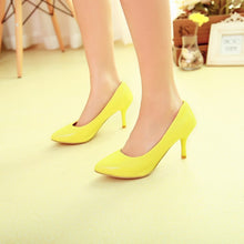 Load image into Gallery viewer, Pointed Toe Women Pumps High Heels Spike Heel Jelly Shoes Woman