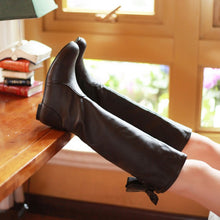 Load image into Gallery viewer, Round Toe Bow Knee High Boots Flats Shoes 8500