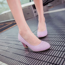 Load image into Gallery viewer, Women High Heels Dress Shoes Party Pumps 6525