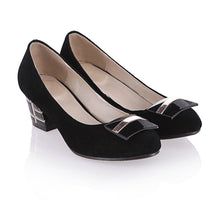 Load image into Gallery viewer, Women Pumps High Heels Thick Heeled Black Shoes Woman 3533