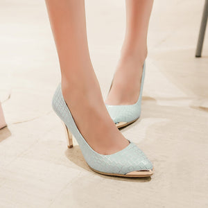 Pointed Toe Stiletto Heel Pumps High Heels Women Shoes 6908