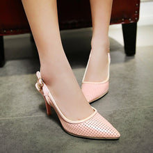 Load image into Gallery viewer, Pointed Toe Sandals Pumps Sexy Stiletto Heel High-heeled Shoes Woman